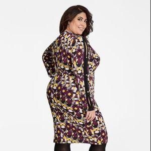 c1717ac06fa7 Ashley Stewart Dresses - Ashley Stewart Purple Geo Print Faux Wrap Dress